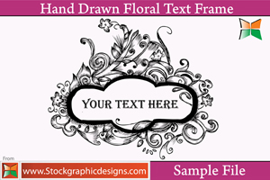 Hand Drawn Floral Text Frames